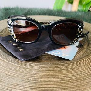 Krewe cute sunglasses black Multi sunglasses NEW